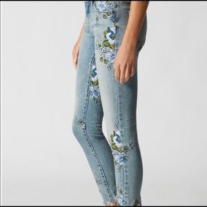 Blank NYC Embroidered Floral Jeans